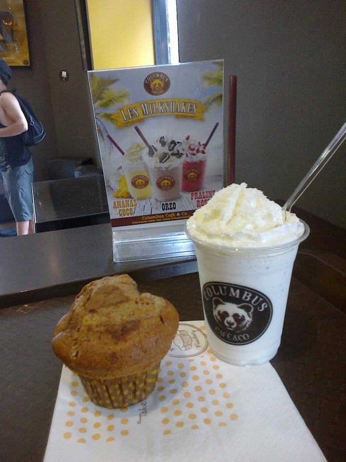Milkshake Ananas-coco et Muffin pomme-canelle