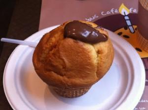 Le muffin Gourmand (fourré au nutella) dans toute sa beauté!