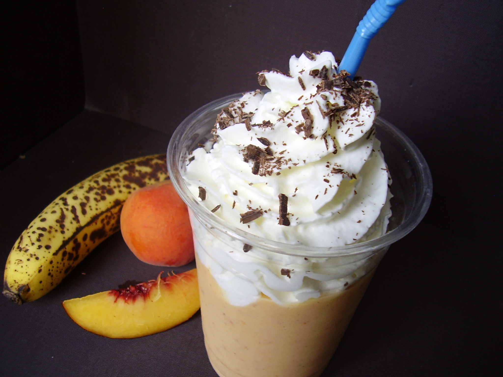 Milkshake Banane-pêche-abricot