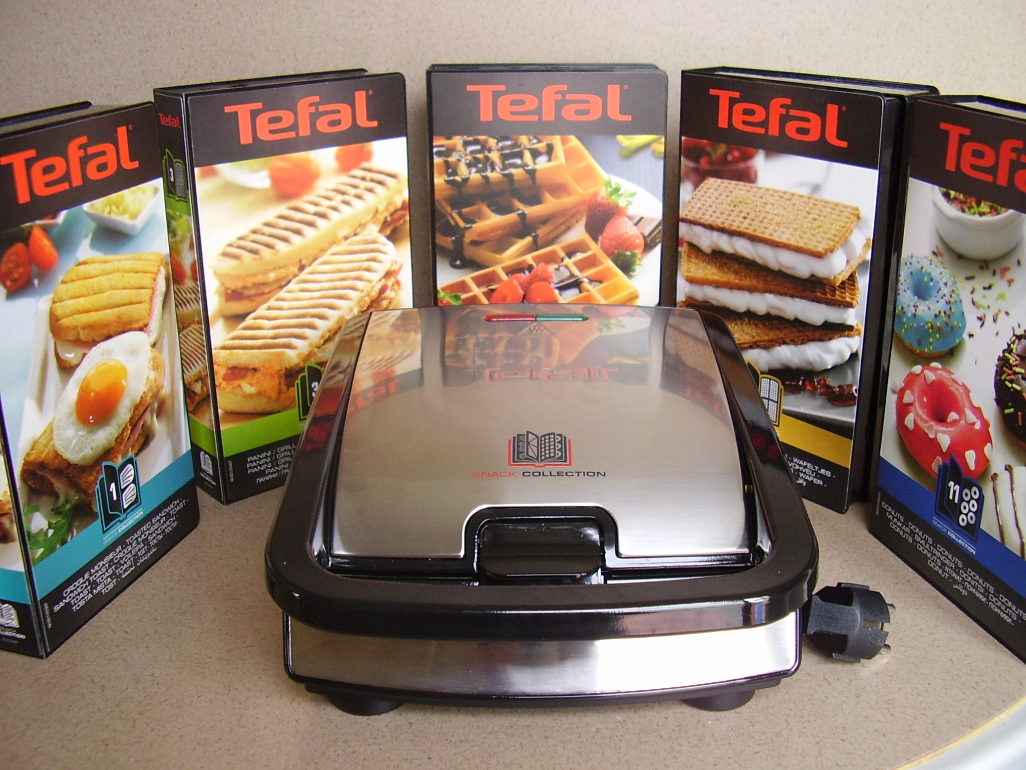 tefal snack collection toque de choc. Black Bedroom Furniture Sets. Home Design Ideas