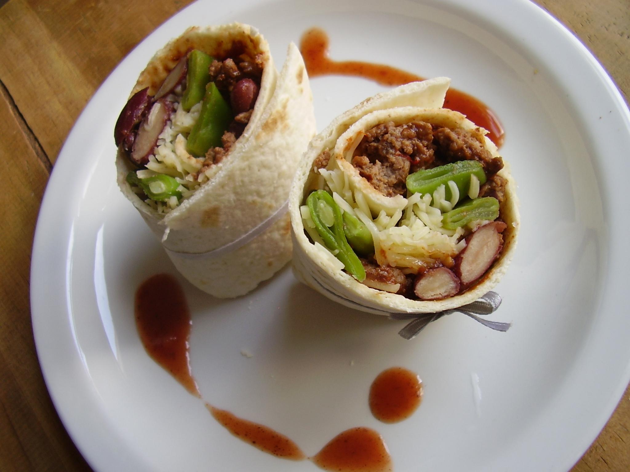 Wrap chaud façon chili con carne