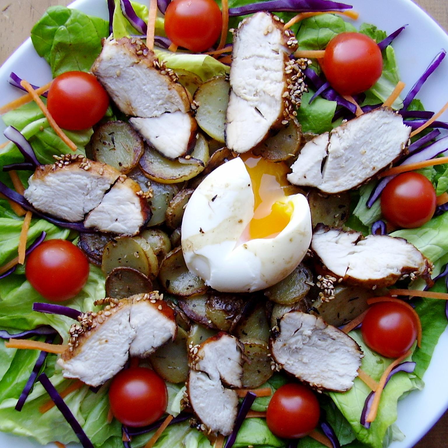 Salade césarienne (pas tout à fait César mais un peu quand même)
