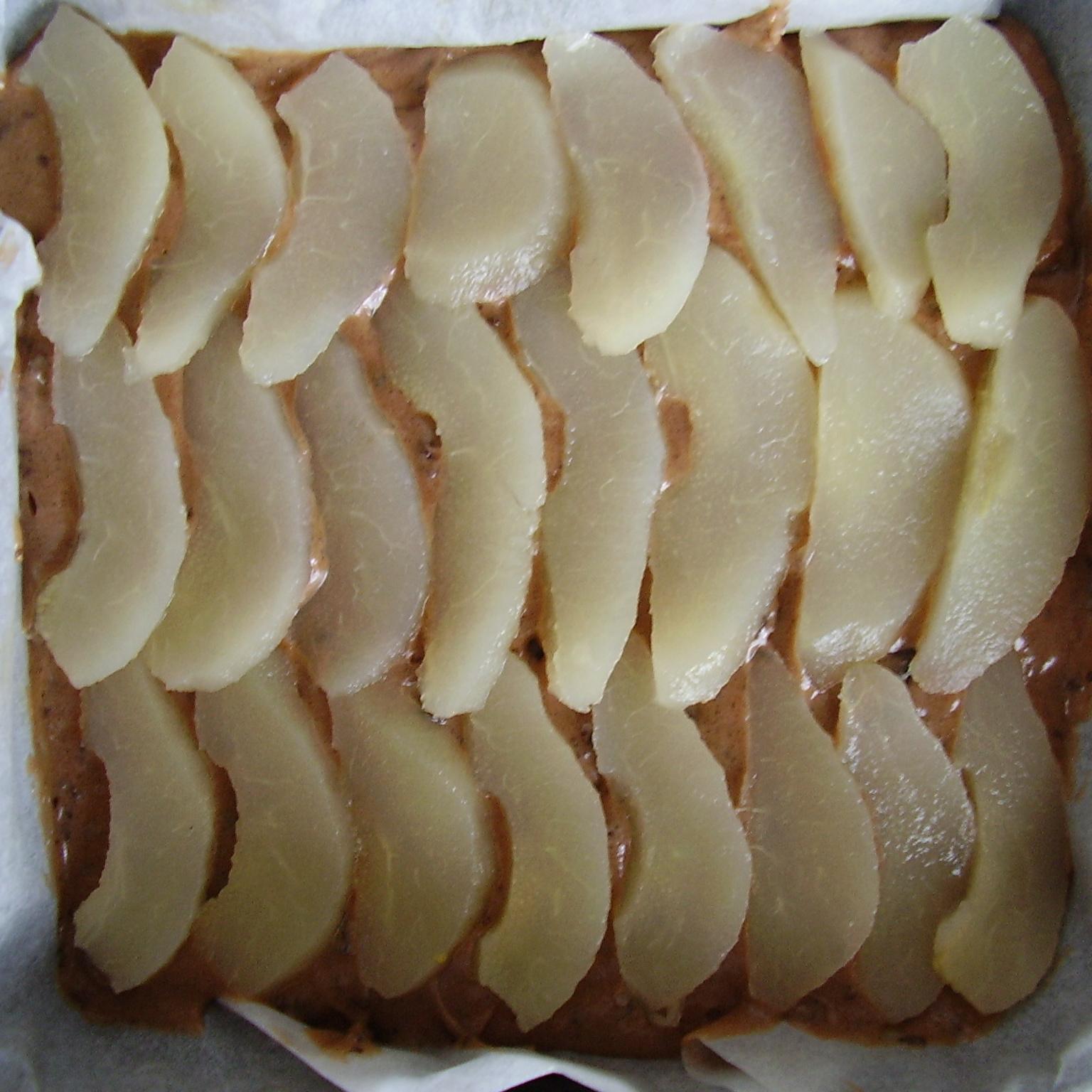 Une couche de poire
