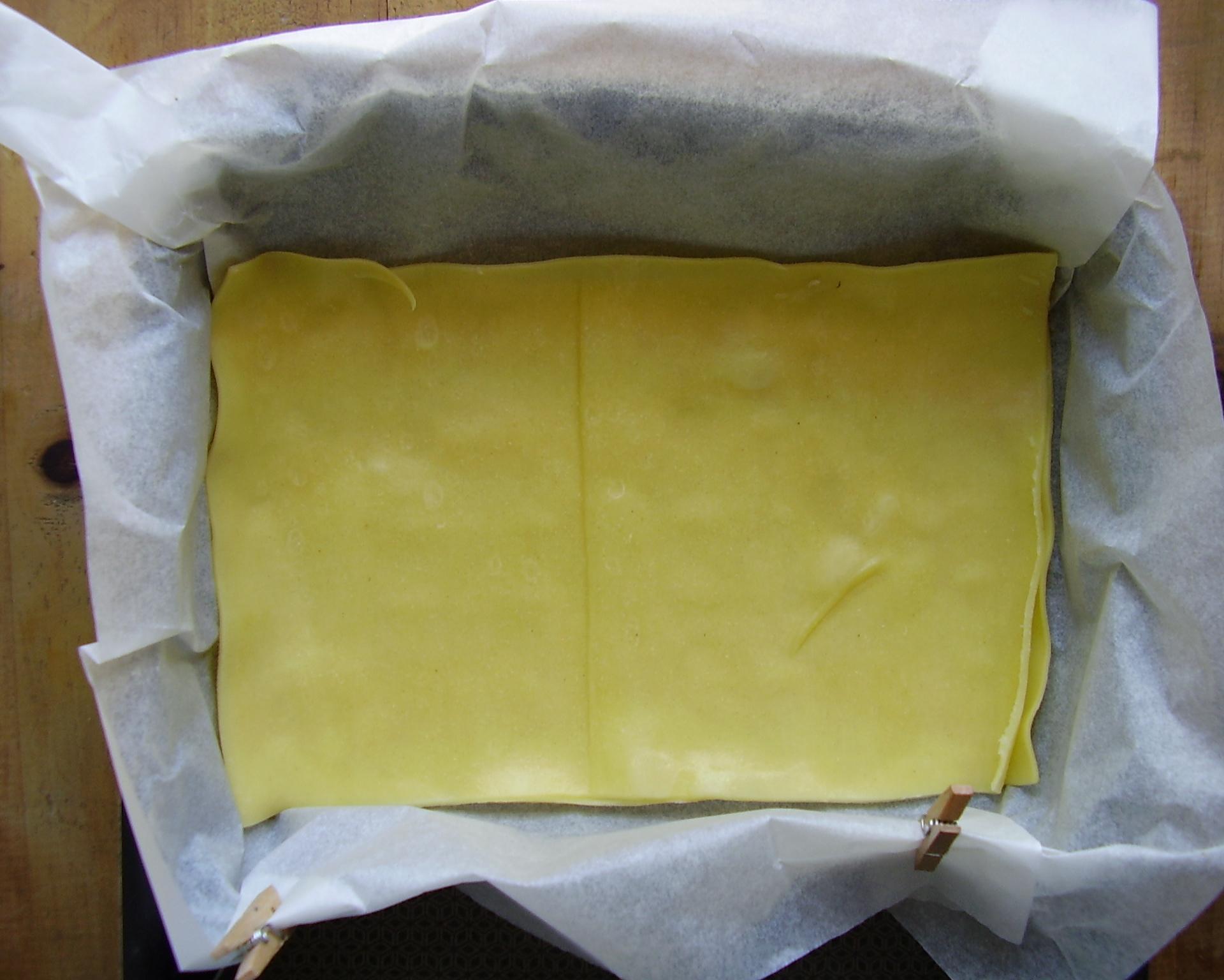 1ere double couche de lasagnes