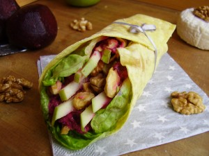 Wrap chèvre-betterave