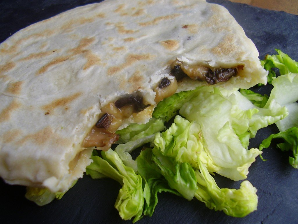 Cheese Naan aux champignons