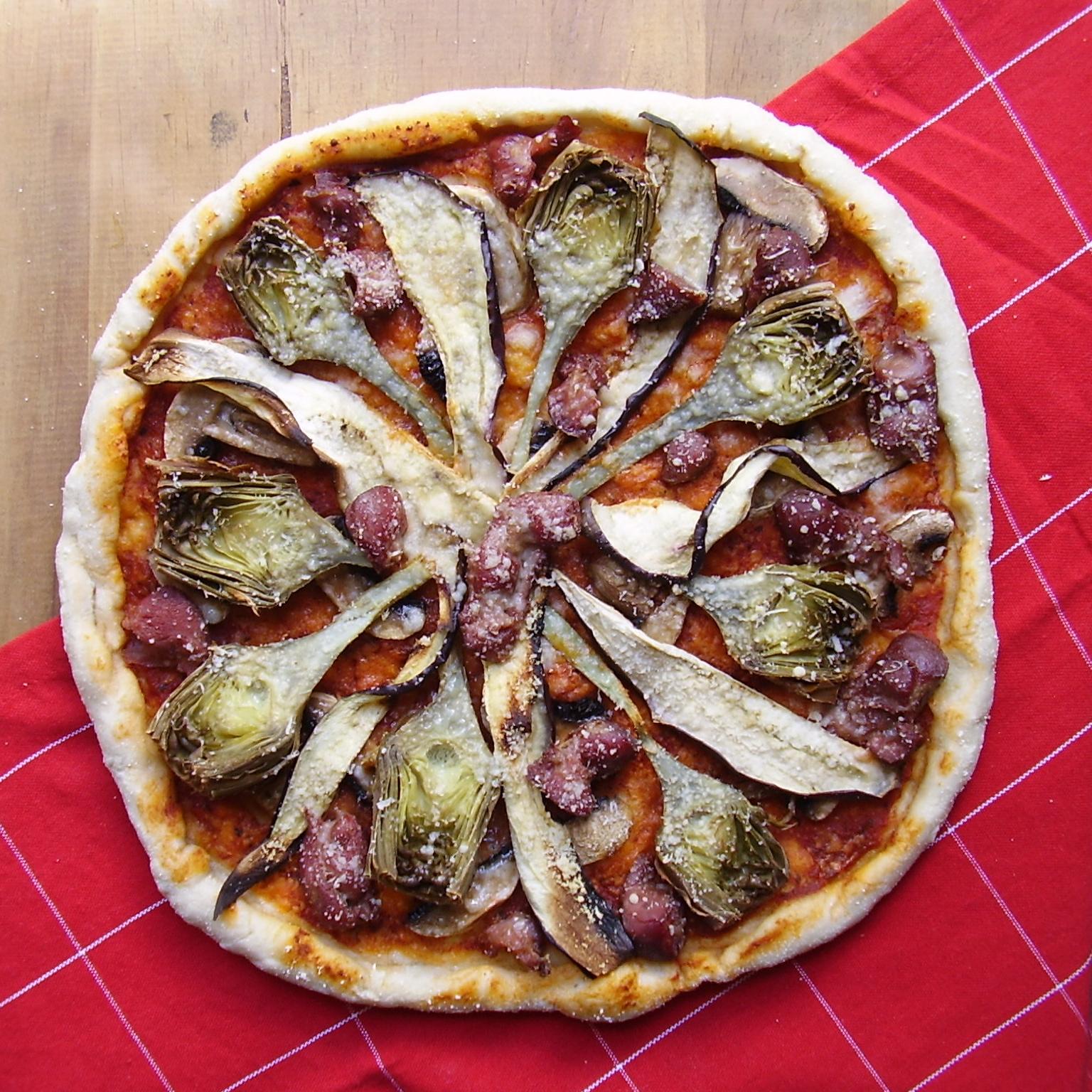 pizza mit artischocken — rezepte suchen