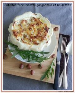 Pâtisson farci gorgonzola et noisette par la Cuisine de Wattoote