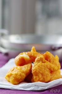 Beignets frits de potiron et scamorza fumée chez Un déjeuner de Soleil
