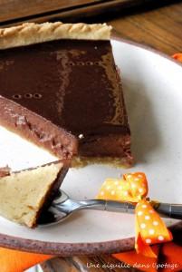 Chocolate pumpin pie sur Une aiguille dans l'potage
