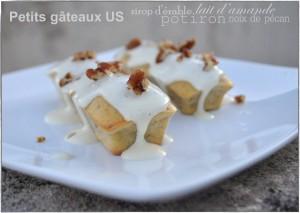 Petits gâteaux au potiron, lait d'amande, sirop d'érable et noix de pécan chez la Popote de Manue