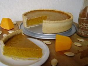Tarte à la citrouille (pumpkin pie) par Toque de choc