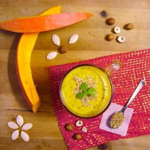 Soupe de butternut, moutarde à l'ancienne et noisette par Toque de choc