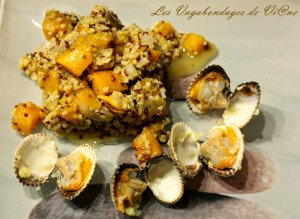 Quinoa aux coques et butternut par les Vagabondages de Viane