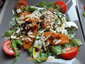 Salade au potiron par Croquant, Fondant, Gourmand