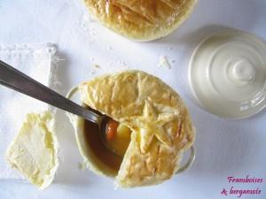 Soupe de Saint Jacques et potiron en croûte chez Framboises et Bergamote