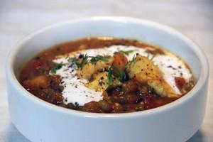 Curry de lentilles, potiron et poulet par Not Parisienne