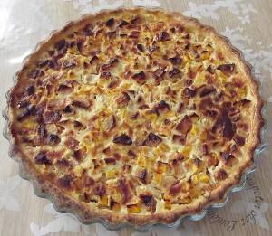 Tarte aux pommes à la courge butternut sur Cuisiner et Papoter
