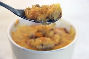 Mug cake potiron-cantal et noix par Not Parisienne