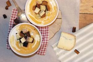 Velouté de butternut au morbier et pain d'épices par Délice Céleste
