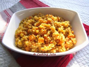 Dahl de quinoa au potiron et lait de coco par Cooking Julia