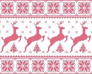 30180894-Hiver-No-l-motif-pix-lis-rouge-transparente-avec-des-cerfs-avec-des-arbres-Banque-d'images