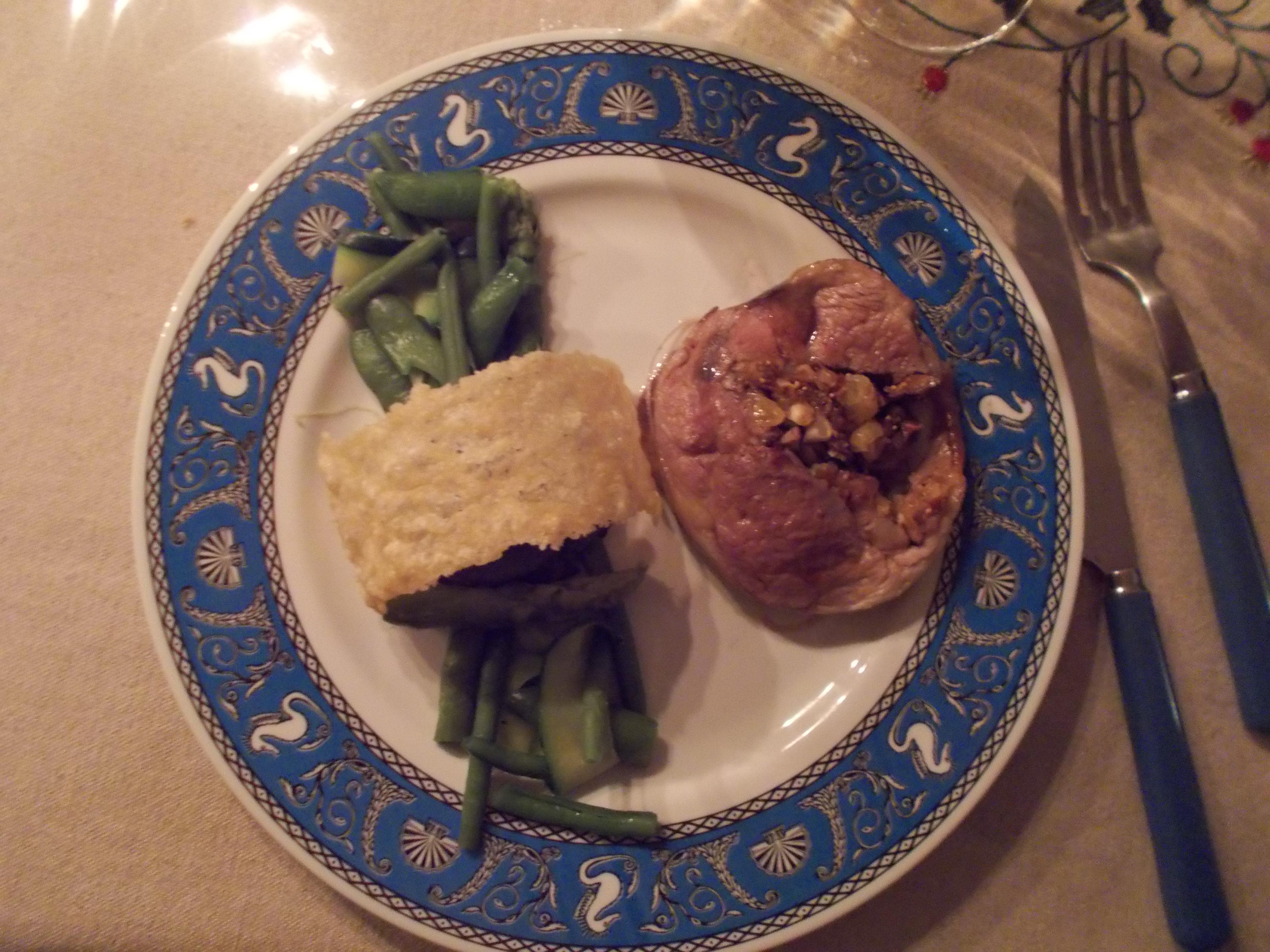 Epaule d'agneau farcie aux fruits secs [Noël 2015]