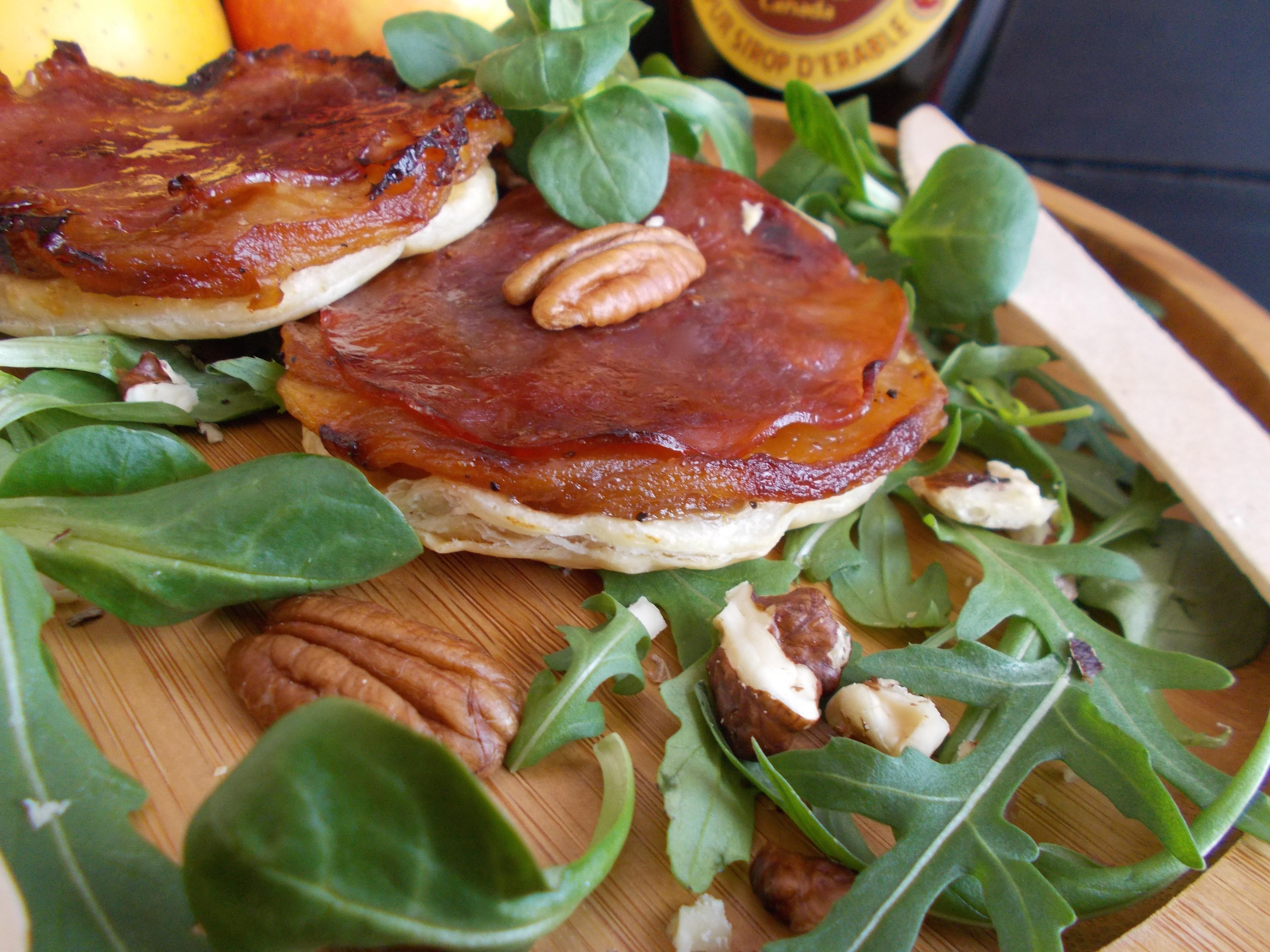 Tarte tatin au bacon et sirop d 39 rable toque de choc for Entree originale ete