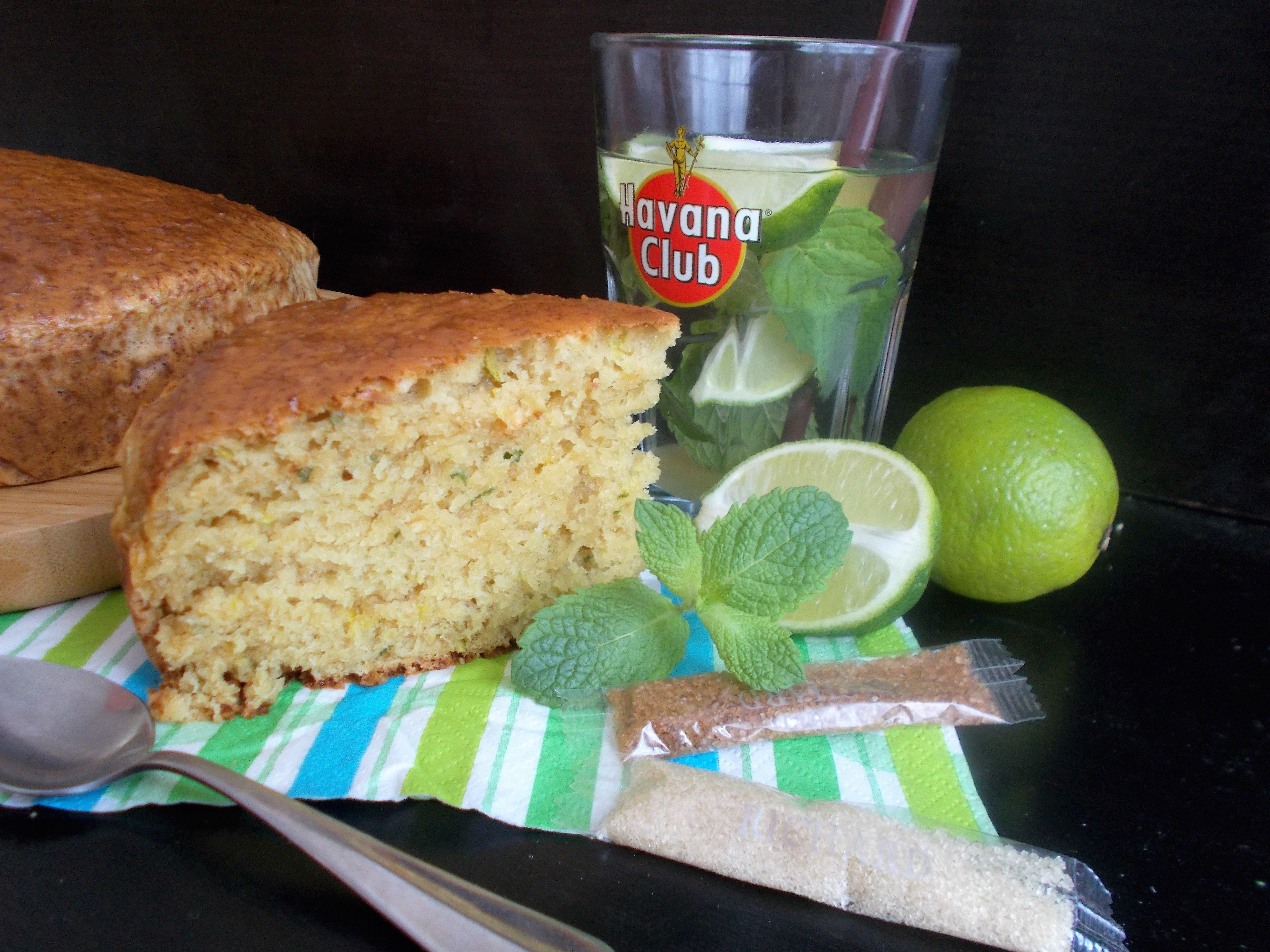 Moelleux mojito (rhum, menthe et citron vert)