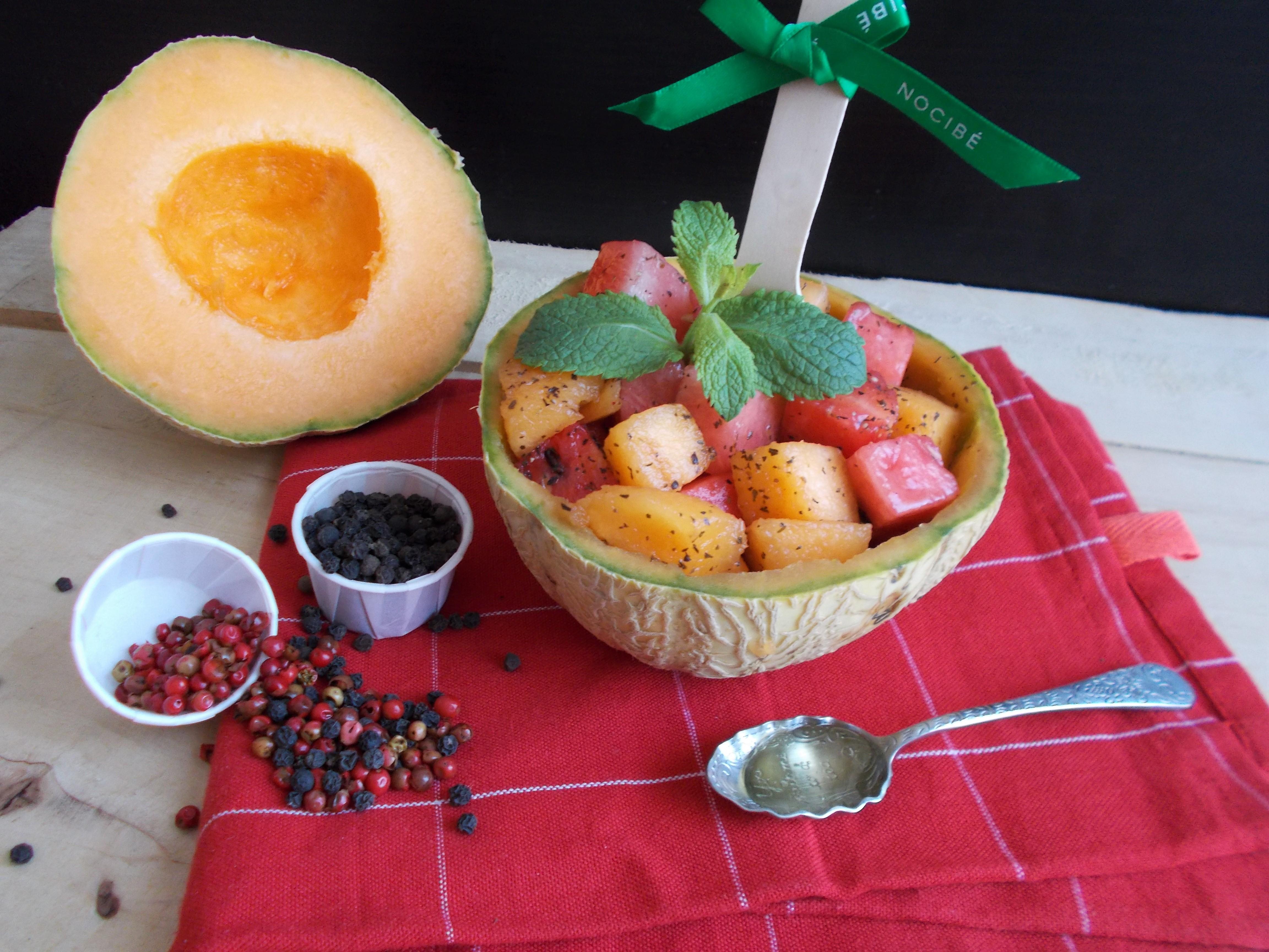 pepones et melones : salade de melon et pastèque selon apicius (tout