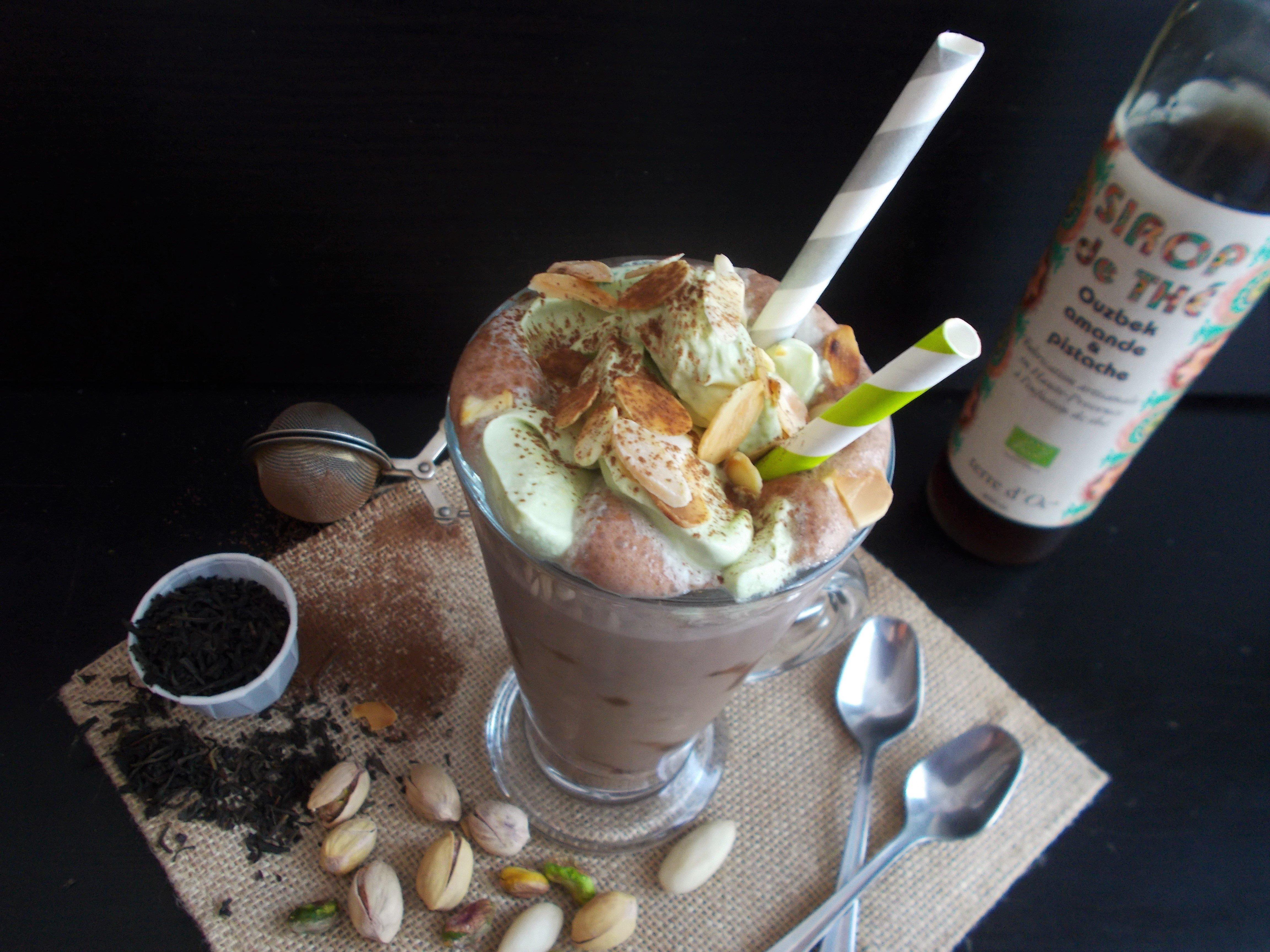 Chocolat frappé Ouzbek (amande et pistache)