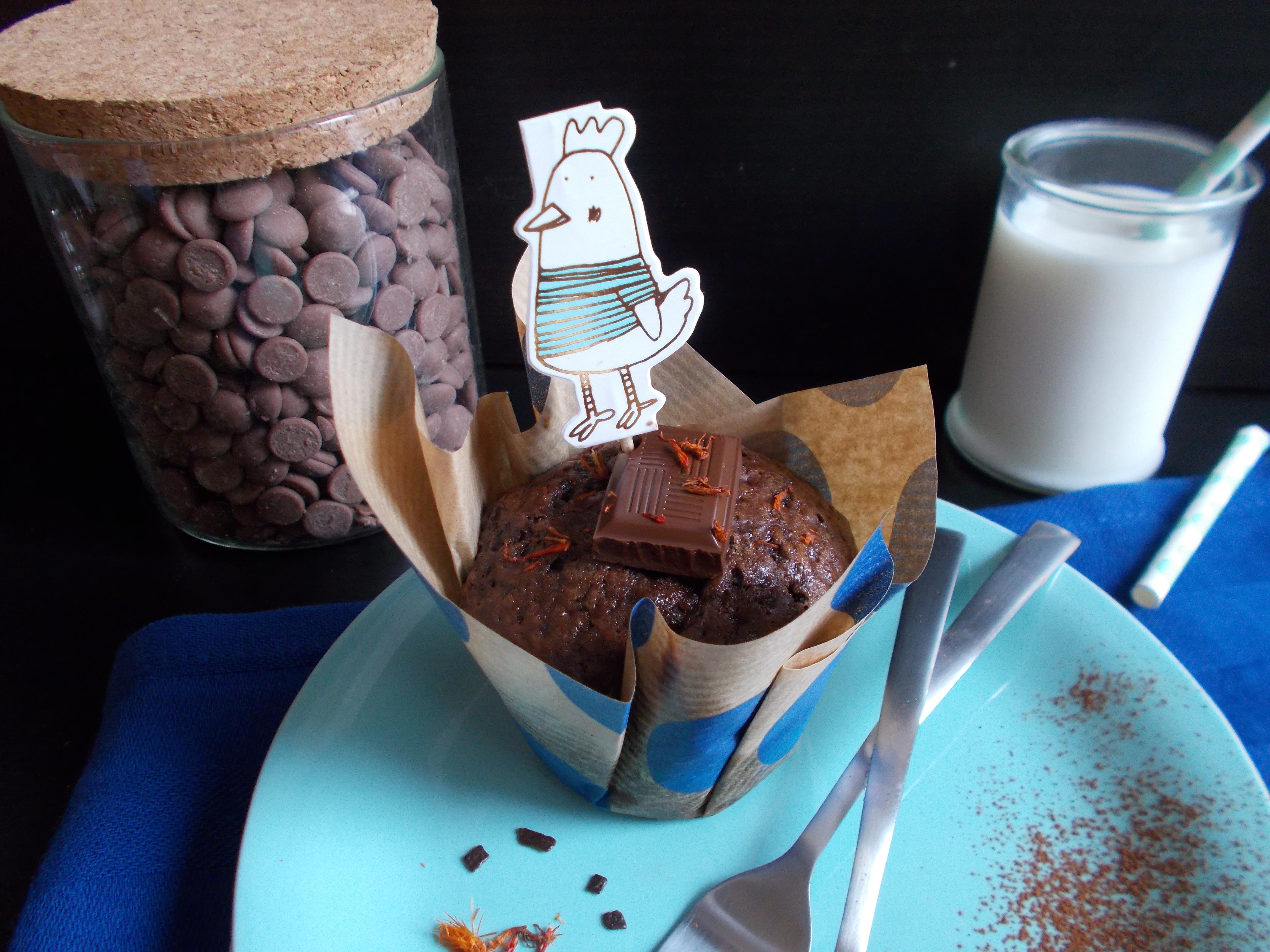 Muffin au chocolat et piment d'Espelette
