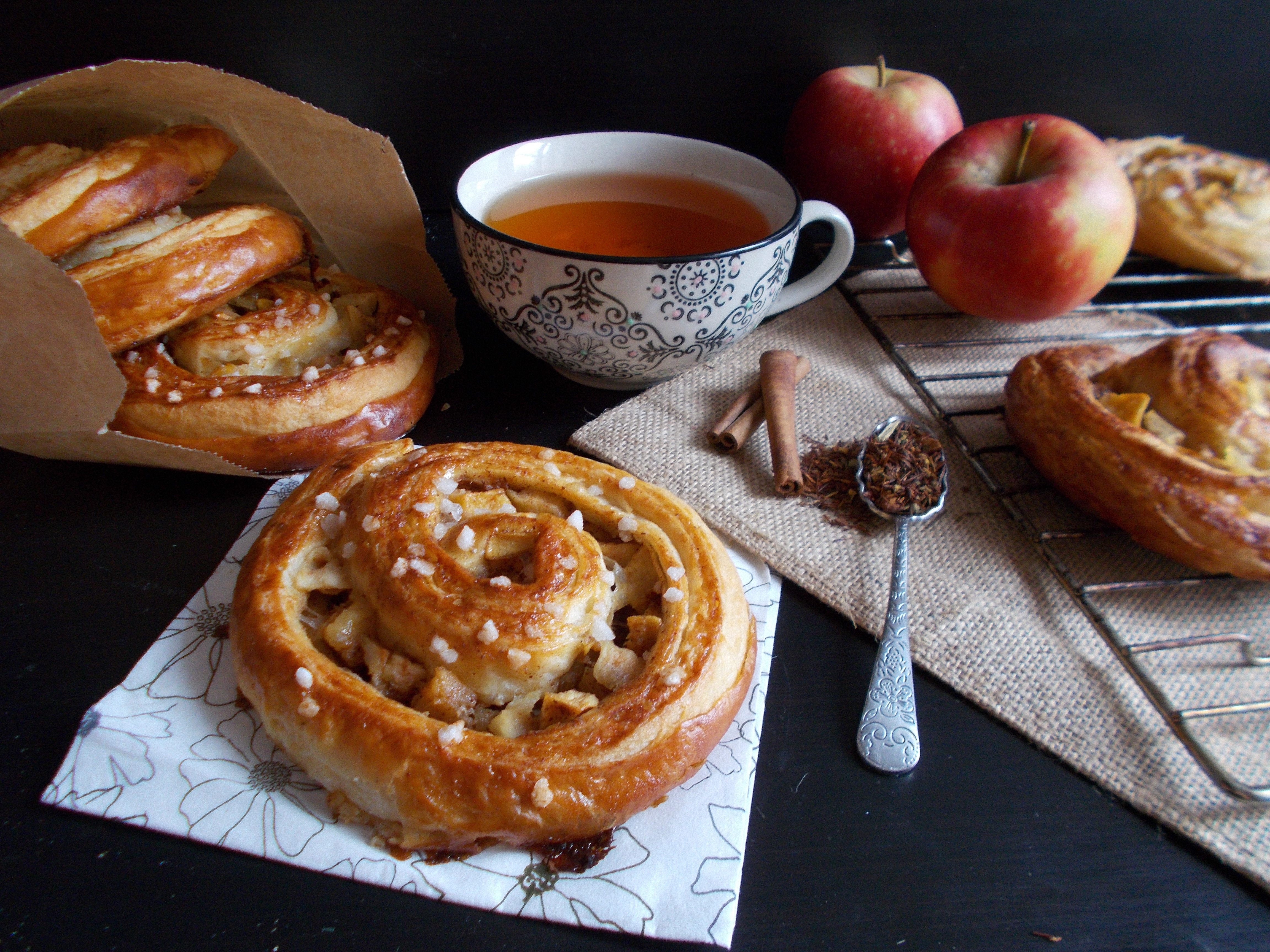 Escargots pomme-cannelle