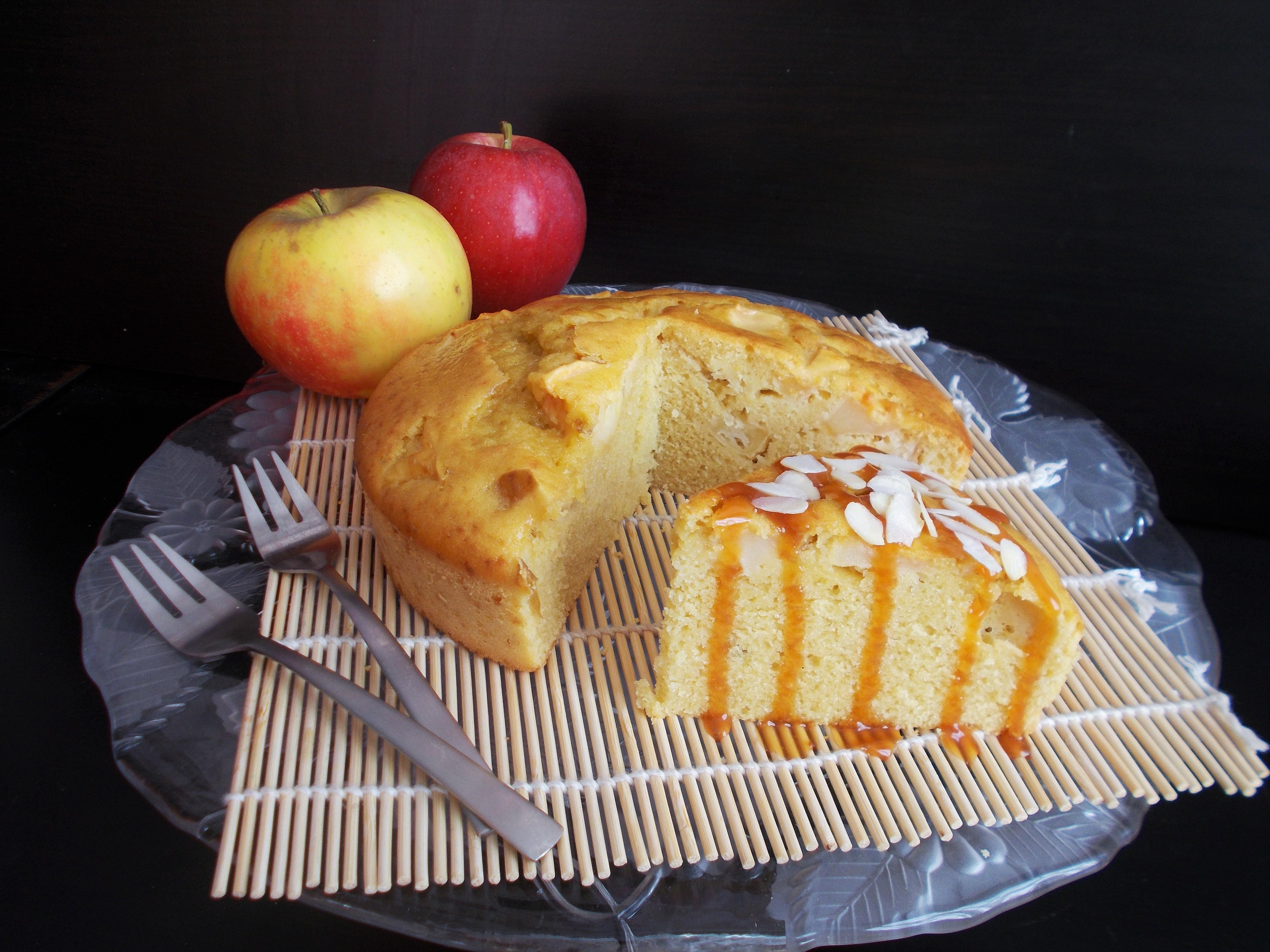 Gâteau aux pommes au calva (souvenir d'enfance)