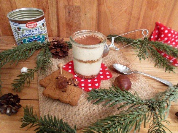 Tiramisu à la crème de marrons et spéculoos