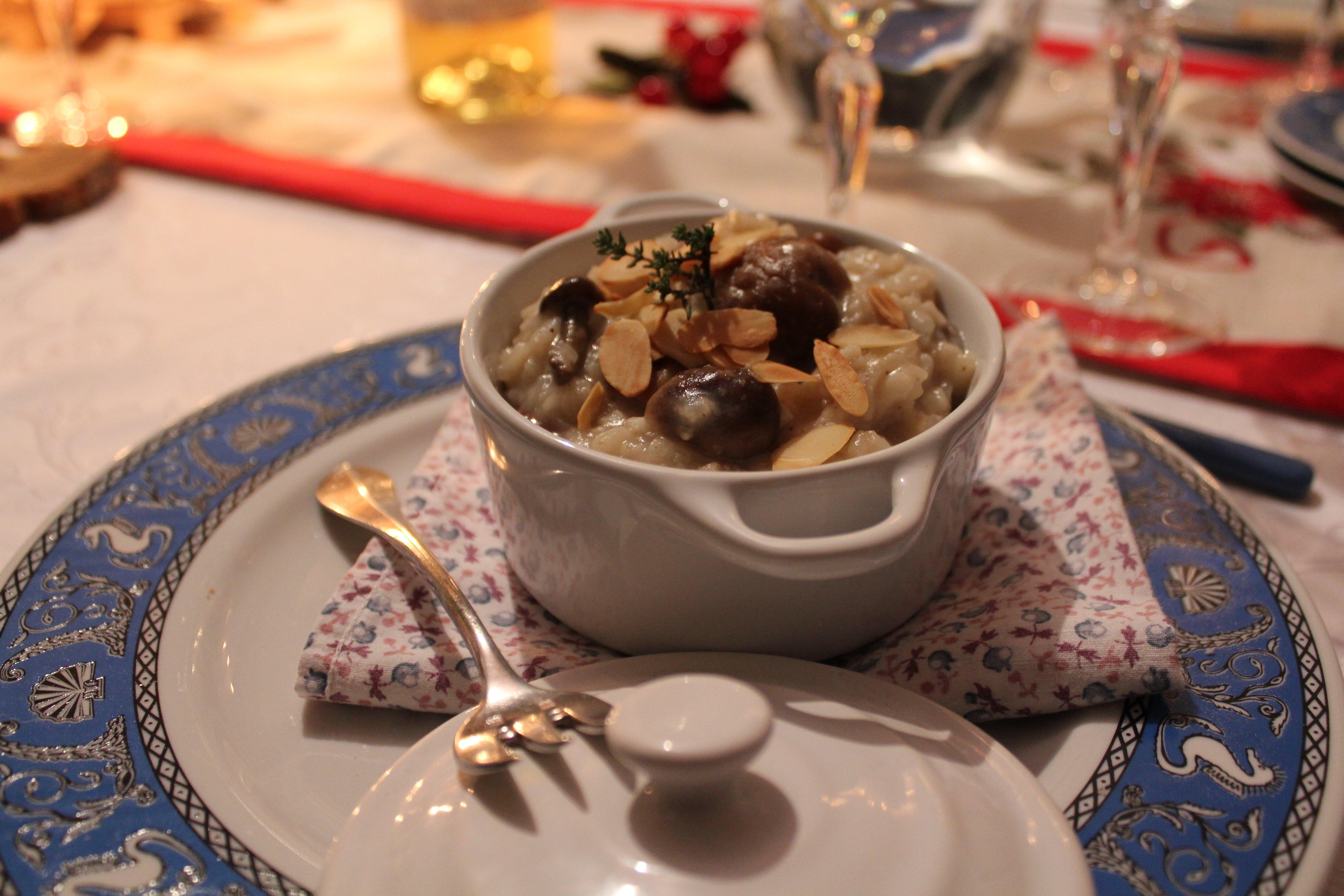 Risotto champignon & chataigne