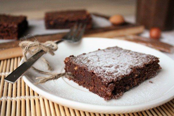 Brownie chocolat, châtaigne et amande