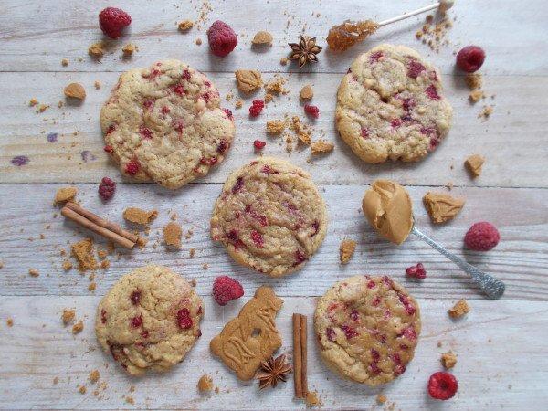 Cookie framboise et spéculoos