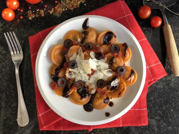 Raviolis aux légumes du soleil et mozzarella