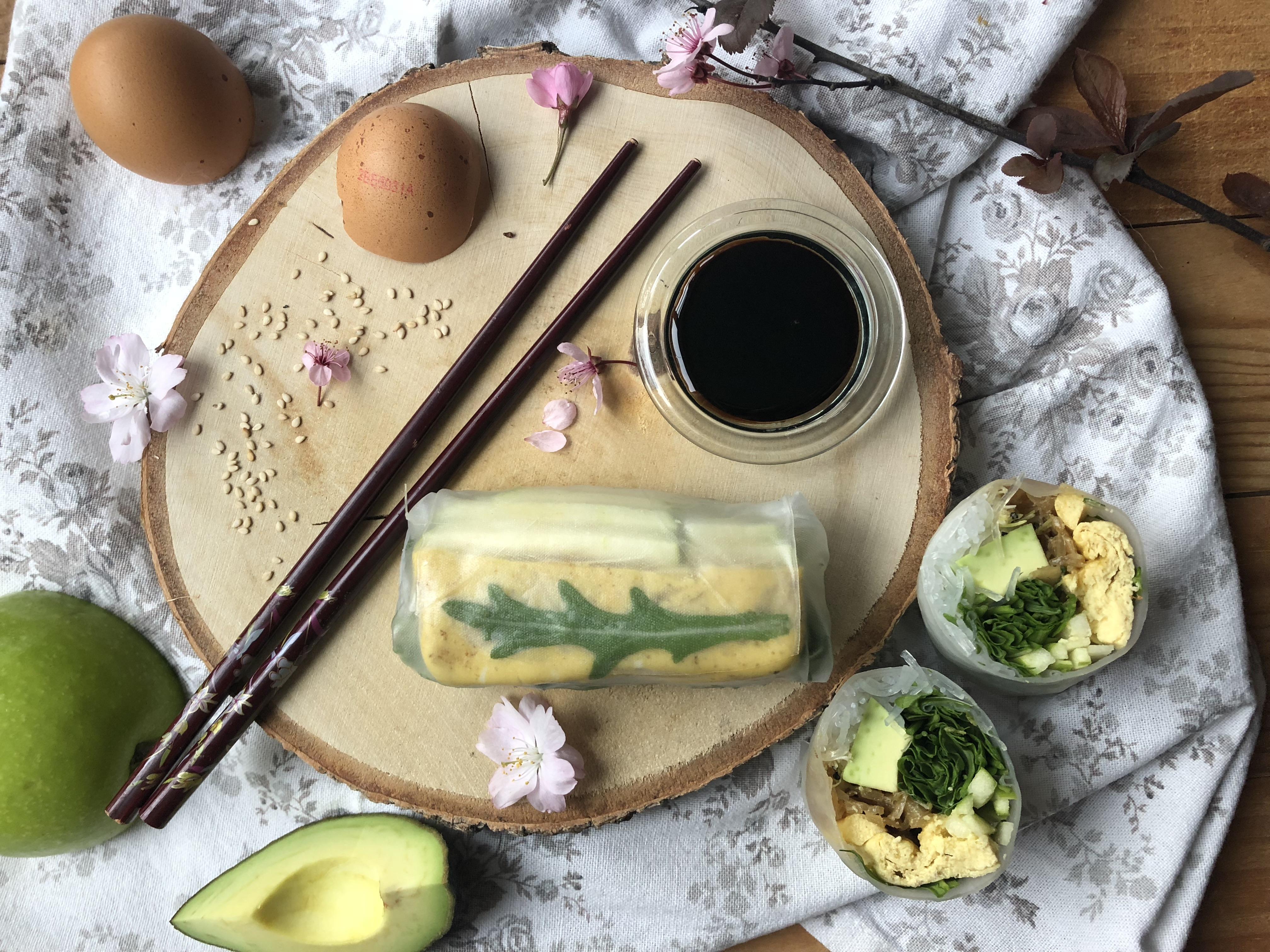 Rouleau de printemps à l'omelette