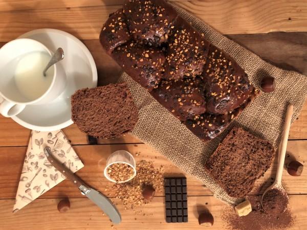 Brioche cacao et noisette