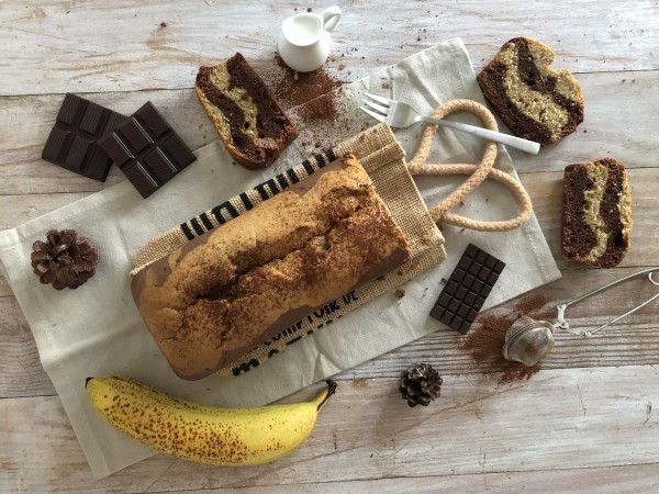 Marbré chocolat-banane