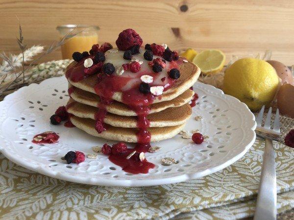 Pancakes fourrées au lemon curd
