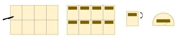 Etalez votre pâte en un rectangle de 25 x 30 cm environ sur 0,5 cm d'épaisseur environ.