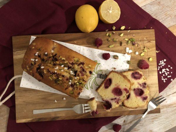 Cake citron-framboise
