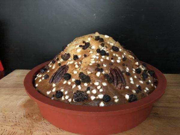 Enfournez pour 45 min à 1h. La lame d'un couteau doit ressortir sèche du gâteau.