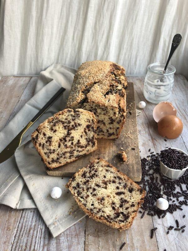 Cake moucheté à la noix de coco