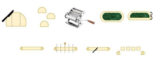 Divisez la pâte en trois boules.
