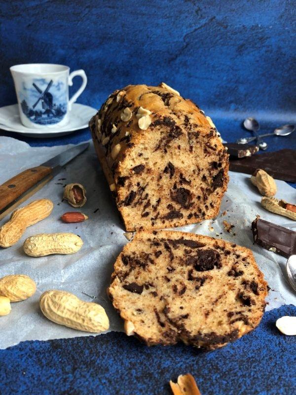 Cake au beurre de cacahuète et chocolat