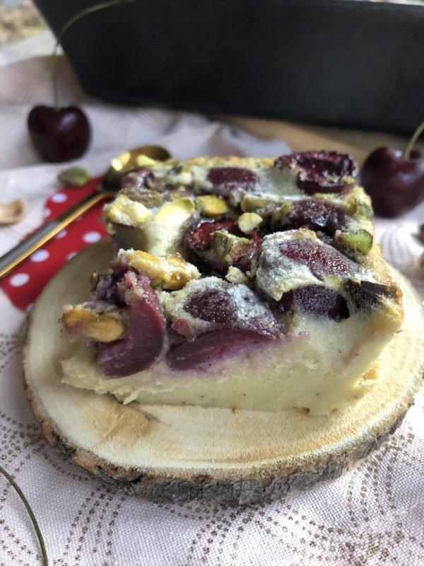 Clafoutis cerise-pistache